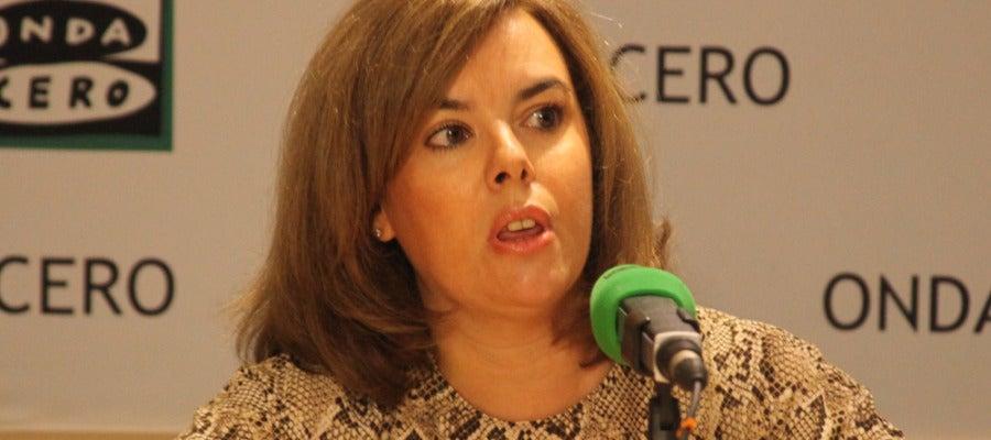 Soraya Sáenz de Santamaría en Onda Cero