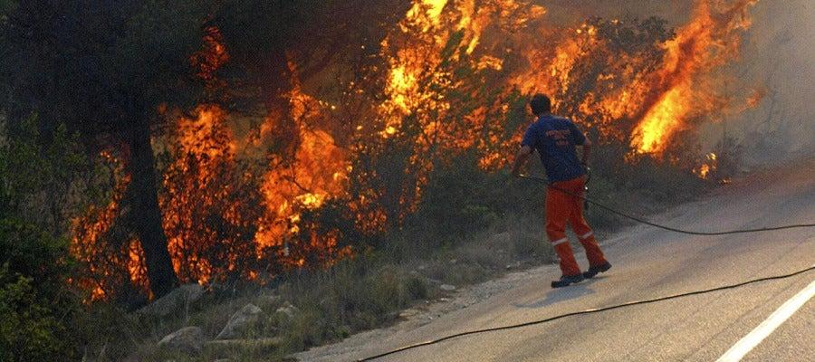 Incendio en Xàbia y Dénia