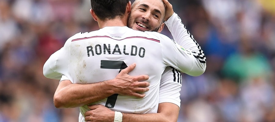Cristiano se abraza con Benzema