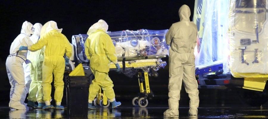 Llegada García Viejo, misionero español afectado por ébola
