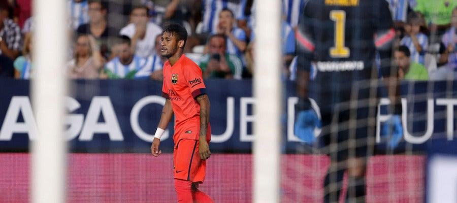 Neymar, resignado ante Kameni