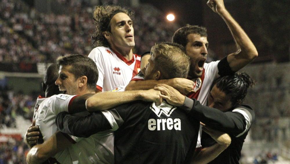 Baptistao celebra el gol de la victoria ante el Athletic