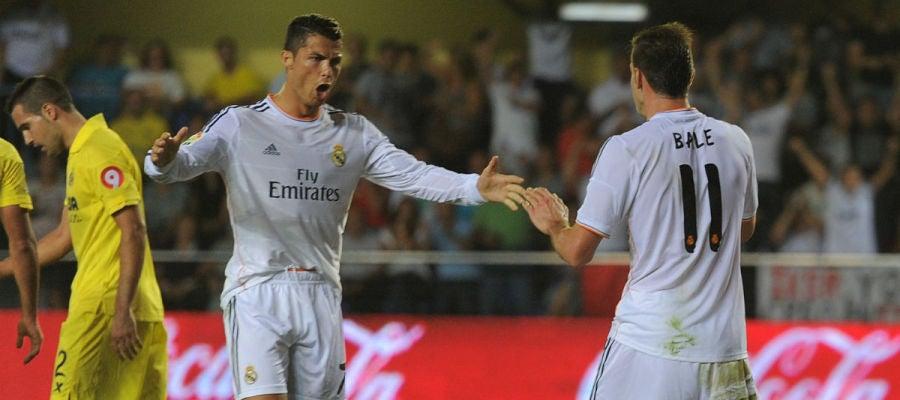 Cristiano y Bale, en El Madrigal la pasada temporada