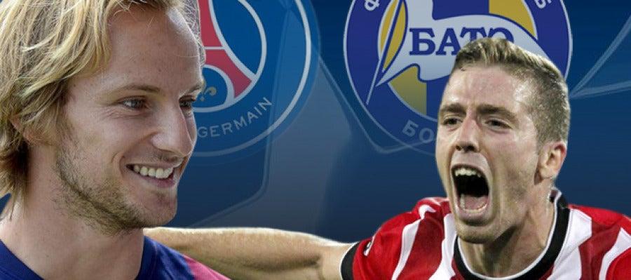PSG - Barcelona y BATE - Athletic Club