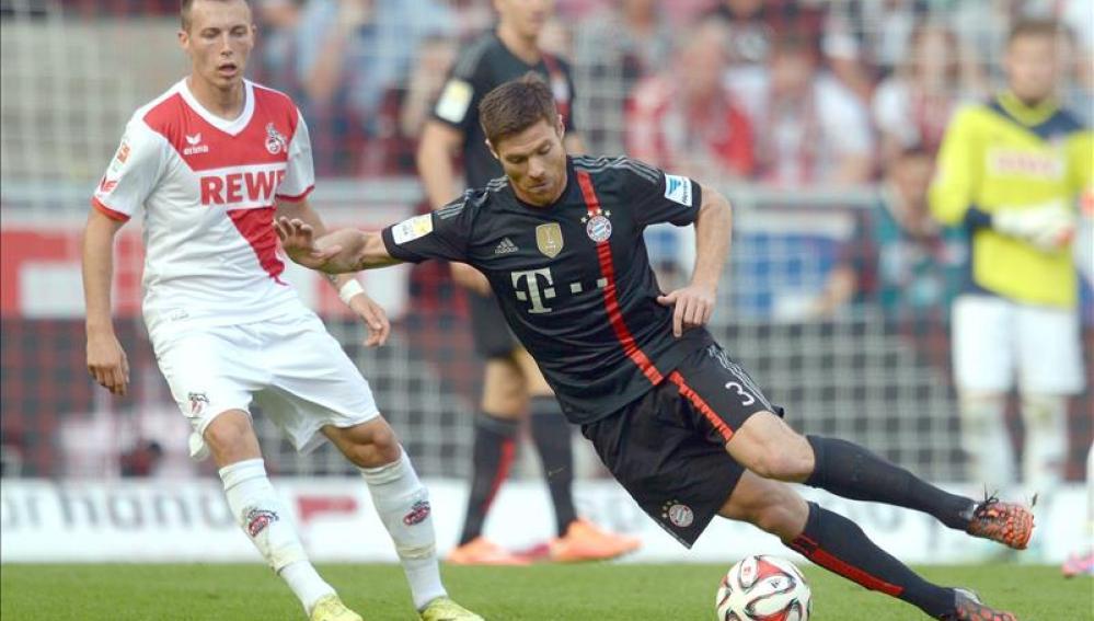 Xabi Alonso, en un partido con el Bayern