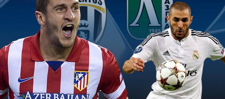 Atlético - Juventus y Ludorests - Real Madrid