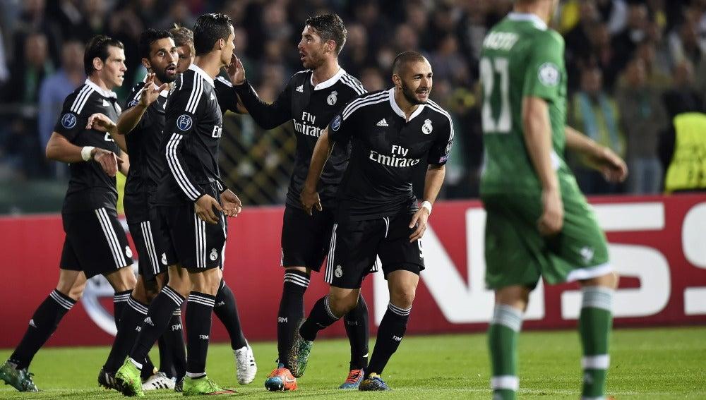 Karim Benzema, autor del gol con el que el Real Madrid culminó la remontada