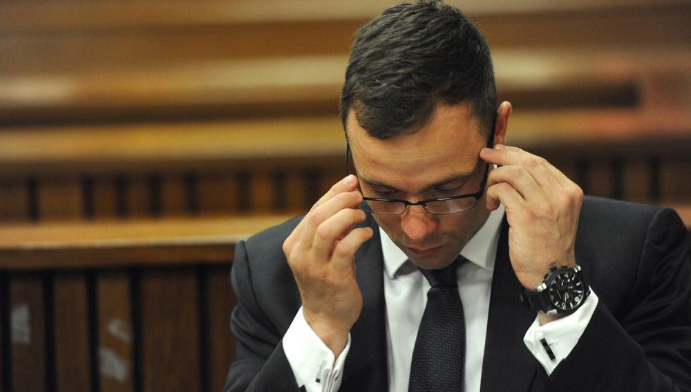 Oscar Pistorius, en la corte judicial de Pretoria