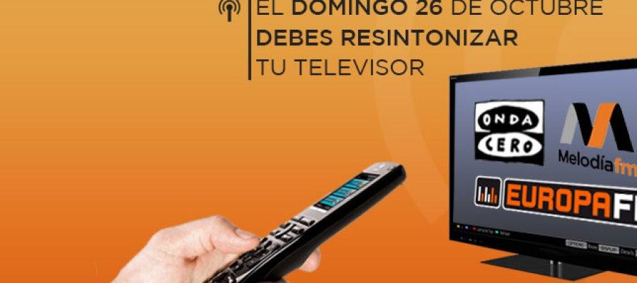 Resintoniza los canales TDT para oír la radio