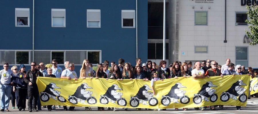 Manifestación de pinguinos en Valladolid