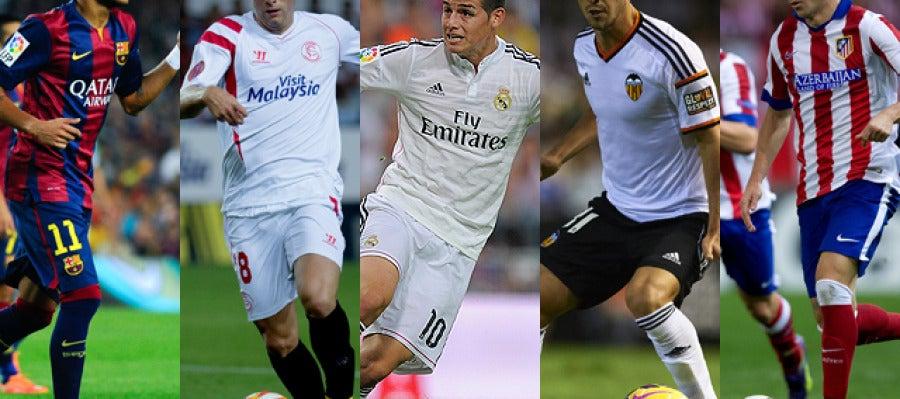 Barcelona, Sevilla, Real Madrid, Valencia y Atlético, los cinco primeros clasificados