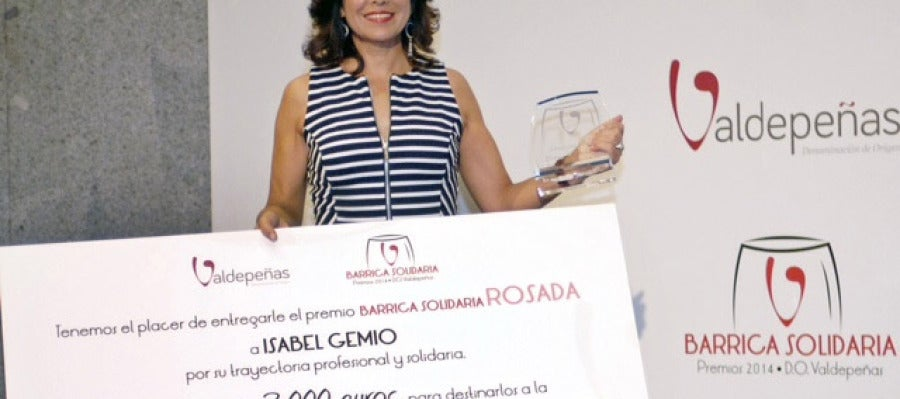 Isabel Gemio, premio Barrica Solidaria
