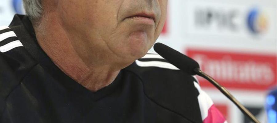 Carlo Ancelotti durante una rueda de prensa