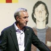 Johan Cruyff, en un acto