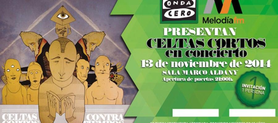 Onda Cero y Melodía FM presentan a Celtas Cortos en concierto