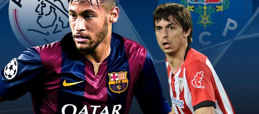 Ajax - Barcelona y Athletic - Oporto