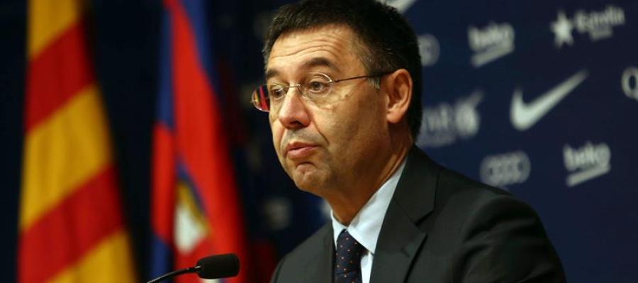Josep Maria Bartomeu en rueda de prensa