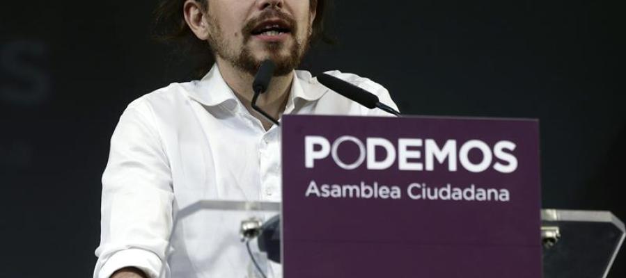 Pablo Iglesias interviene durante el acto de clausura de la Asamblea Ciudadana