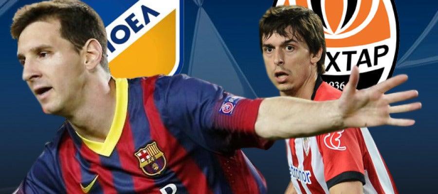 APOEL Nicosia - Barcelona y el Shakhtar Donetsk - Athletic Club
