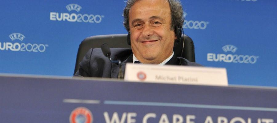 Platini, en un acto de la UEFA