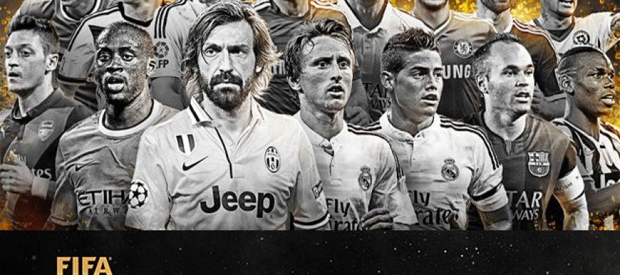 Los 15 centrocampistas nominados al XI del Fifpro