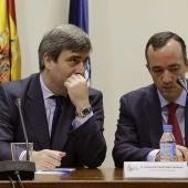 Los secretarios de Estado para el Deporte y de Seguridad, Miguel Cardenal y Francisco Martínez