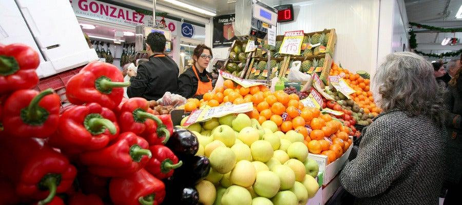 Mercado en los días de Navidad