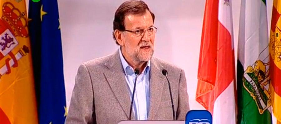 Mariano Rajoy, en un acto en Segovia