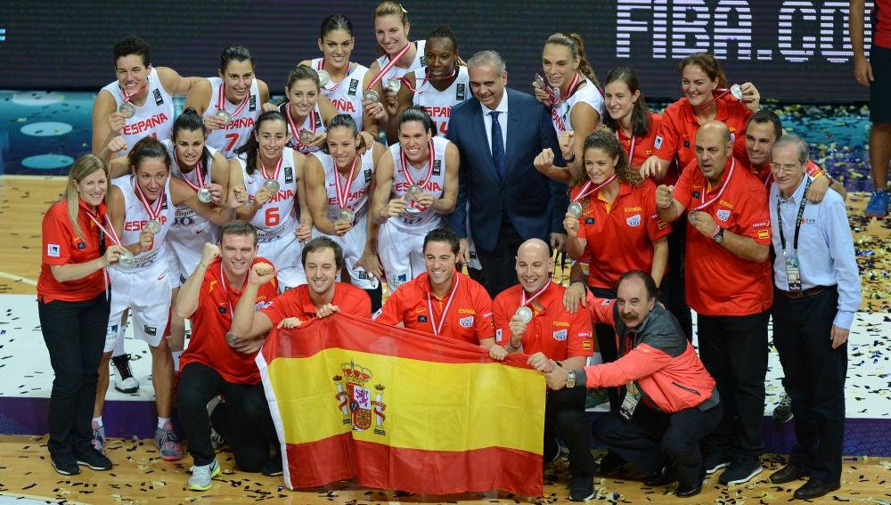 La selección española femenina, con su plata mundial de Turquía
