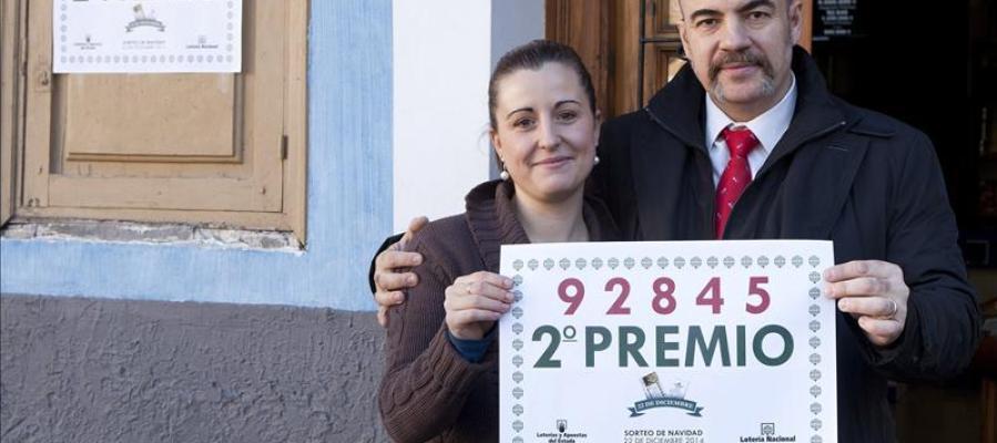 El 92.845, segundo premio de la Lotería