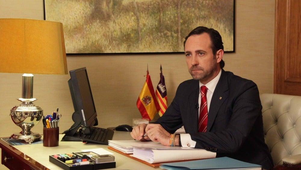 José Ramon Bauza durante su mensaje de fin de año.