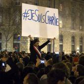 Protesta en Francia por los atentados contra 'Charlie Hebdo'