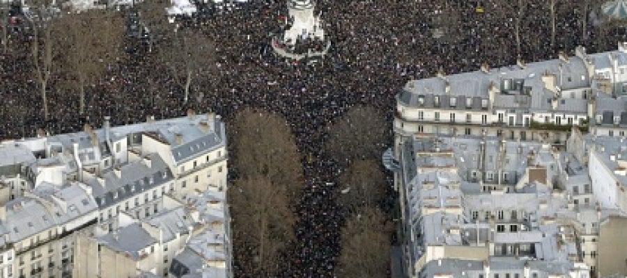 Marcha histórica en París