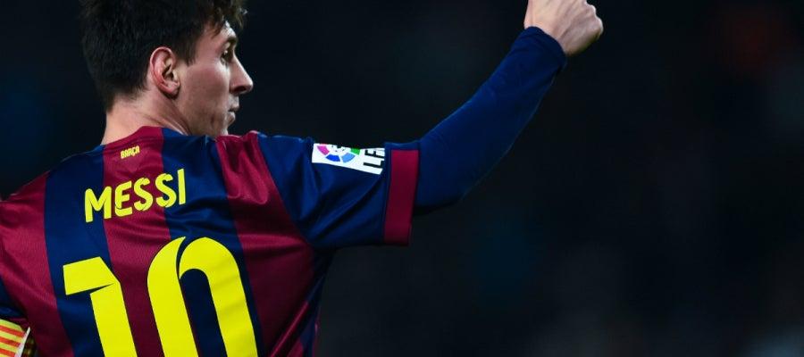 Messi, con gesto de aprobación