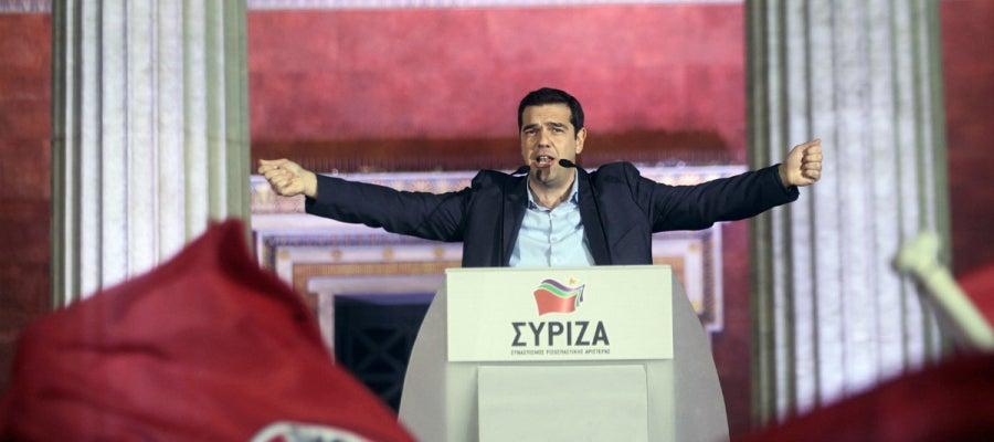 Tsipras, en su discurso tras ganar en Grecia