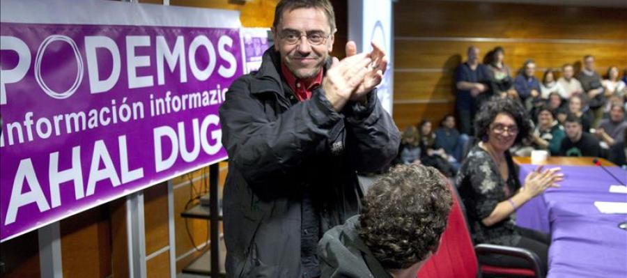 Juan Carlos Monedero comparece ante los medios