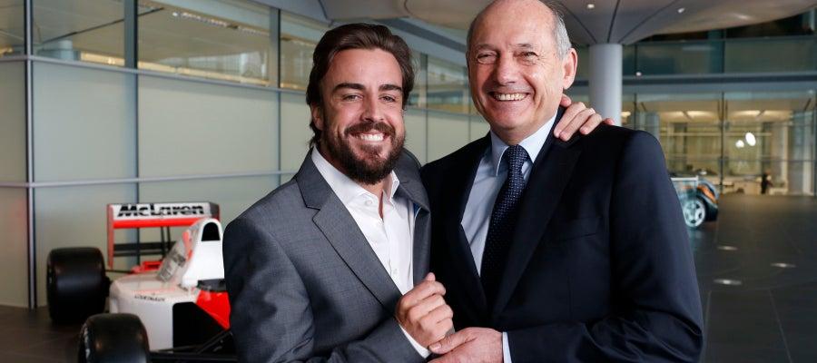 Fernando Alonso y Ron Dennis