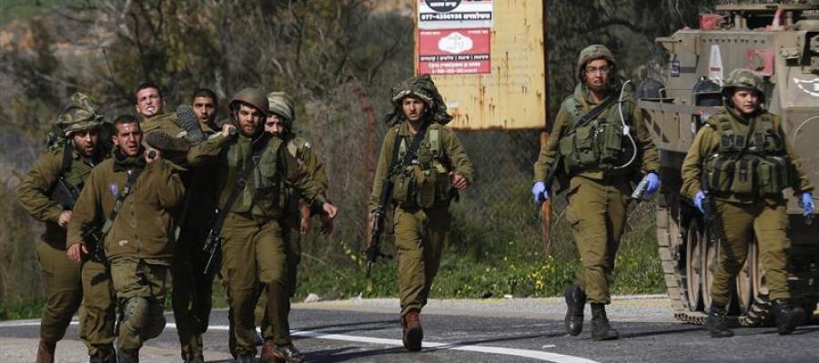 Un grupo de soldados israelíes de misión en el Líbano.