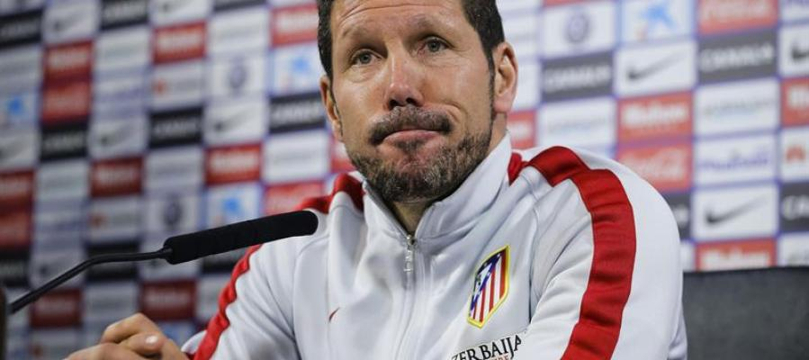 Diego Simeone en sala de prensa