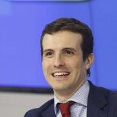 Pablo Casado, portavoz de campaña del Partido Popular