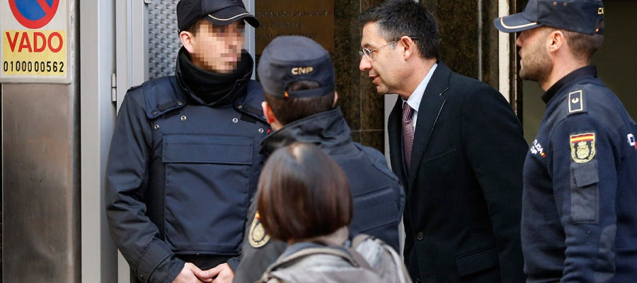 Bartomeu, a su salida de la Audiencia Nacional