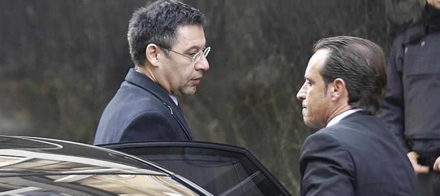 Bartomeu llega a la Audiencia Nacional para declarar como imputado por un delito fiscal en el fichaje de Neymar