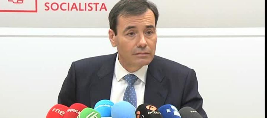 Tomás Gómez en rueda de prensa
