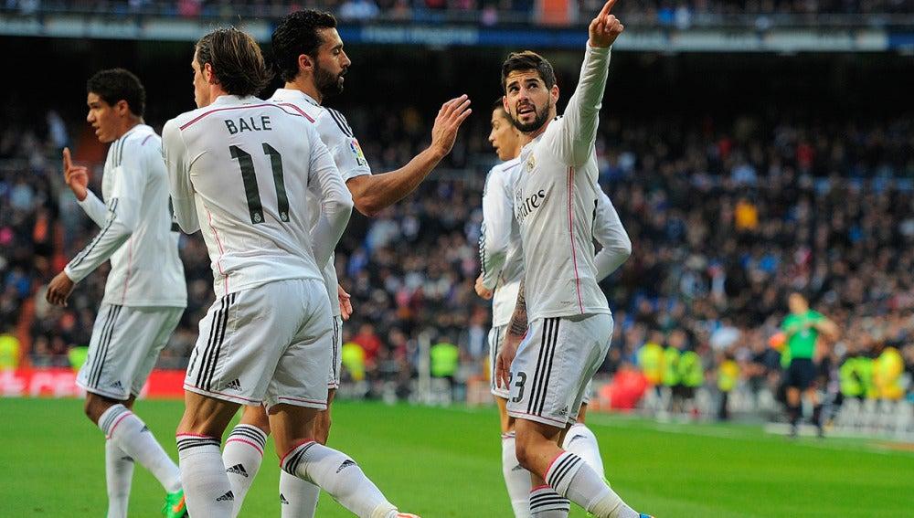 Isco celebra su gol ante el Deportivo