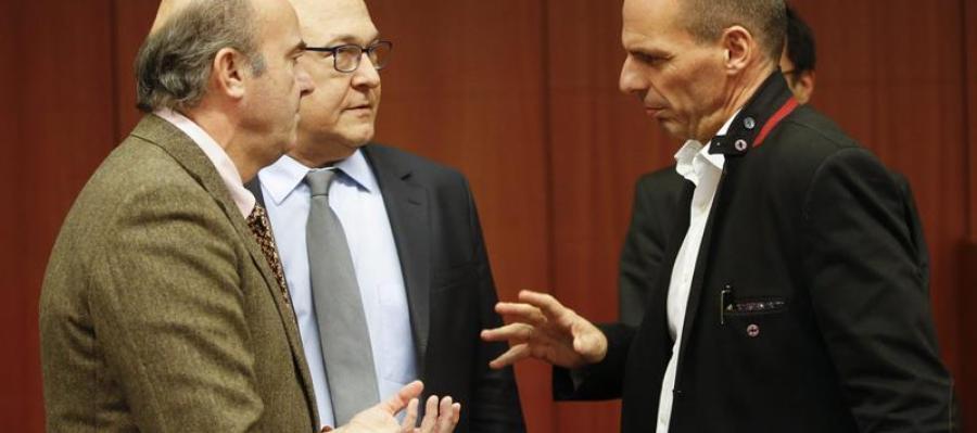 Conversaciones momentos antes del Eurogrupo