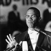 El activista estadounidense Malcolm X, asesinado en 1965