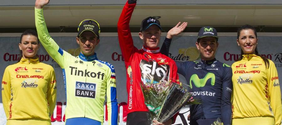Froome, junto a Contador e Intxausti