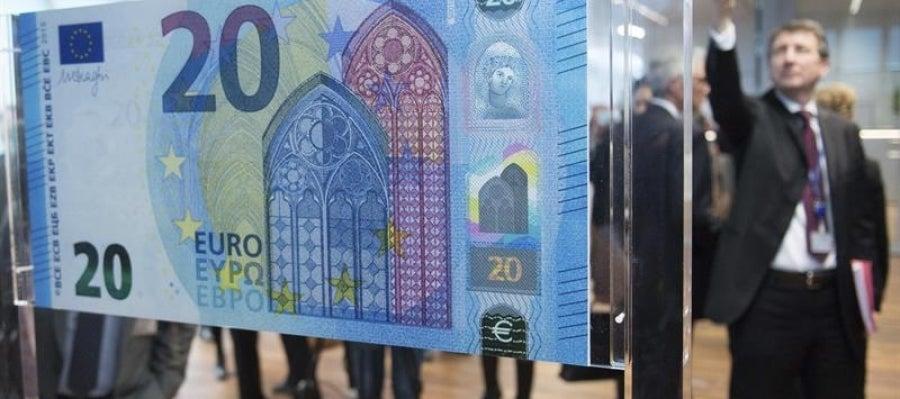 Imagen del nuevo billete de 20 euros