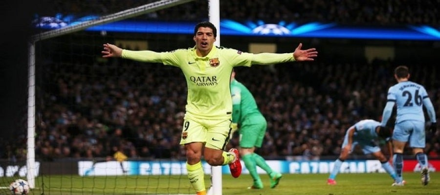 Luis Suarez, goleador frente al Man City