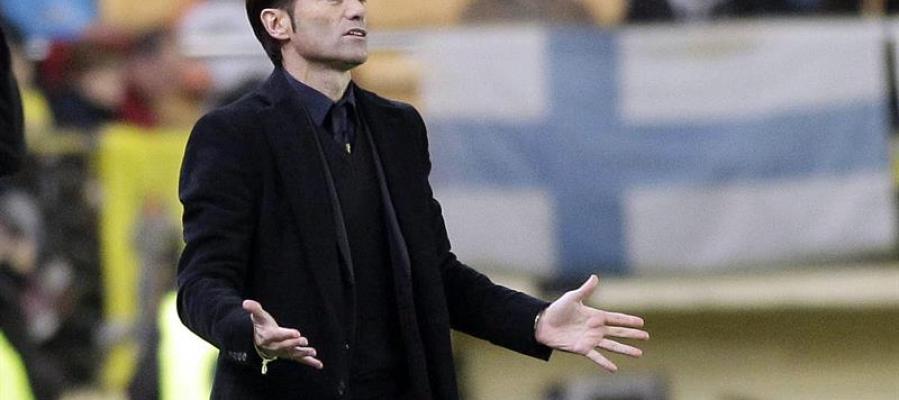 El entrenador del Villarreal, Marcelino García Toral